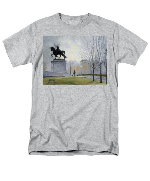 A Walk In Forest Park In St.louis Men's T-Shirt  (Regular Fit) by Irek Szelag