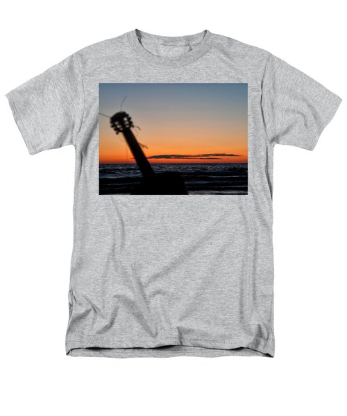 Acoustic Guitar On The Beach Men's T-Shirt  (Regular Fit) by Mike Santis
