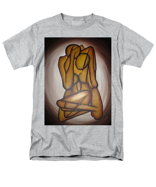 Men's T-Shirt  (Regular Fit) featuring the painting Abstract Lovers by Tracey Harrington-Simpson
