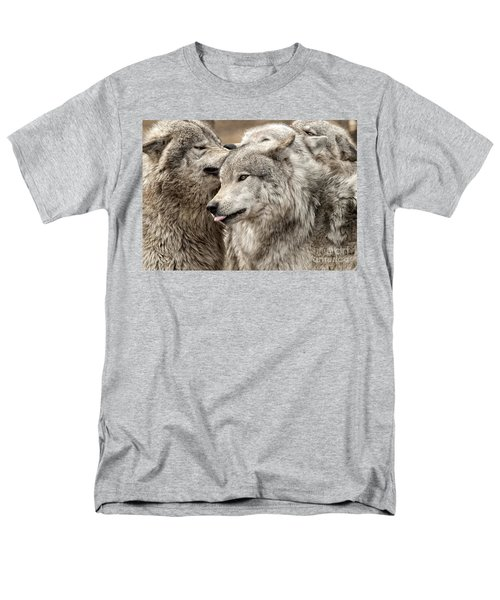 Men's T-Shirt  (Regular Fit) featuring the photograph Adult Timber Wolf by Wolves Only