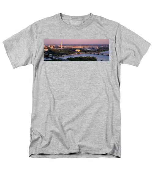 Aerial, Washington Dc, District Of Men's T-Shirt  (Regular Fit) by Panoramic Images