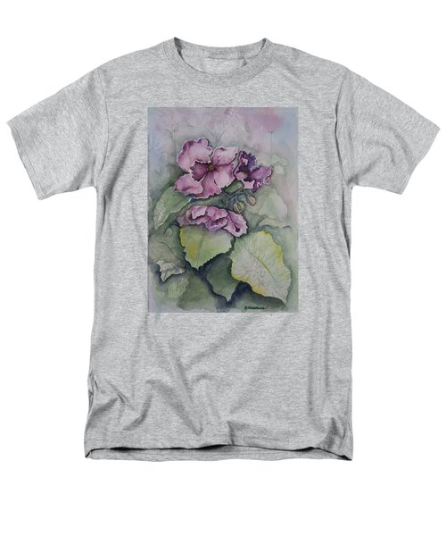 Men's T-Shirt  (Regular Fit) featuring the painting African Violets by Rebecca Matthews