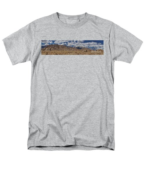Men's T-Shirt  (Regular Fit) featuring the photograph Alabama Hills And Eastern Sierra Nevada Mountains by Peggy Hughes