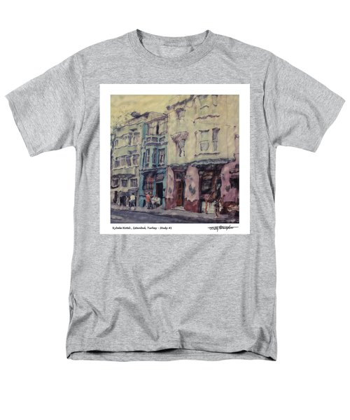 Altered Polaroid - Kybele Hotel 1 Men's T-Shirt  (Regular Fit) by Wally Hampton