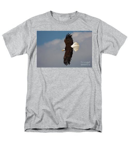 Men's T-Shirt  (Regular Fit) featuring the photograph American Bald Eagle In Flight by Nick  Biemans