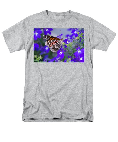Men's T-Shirt  (Regular Fit) featuring the photograph American Lady On Lobelia by Greg Graham
