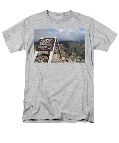 Appalachian Trail Mount Katahdin Men's T-Shirt  (Regular Fit) by Glenn Gordon