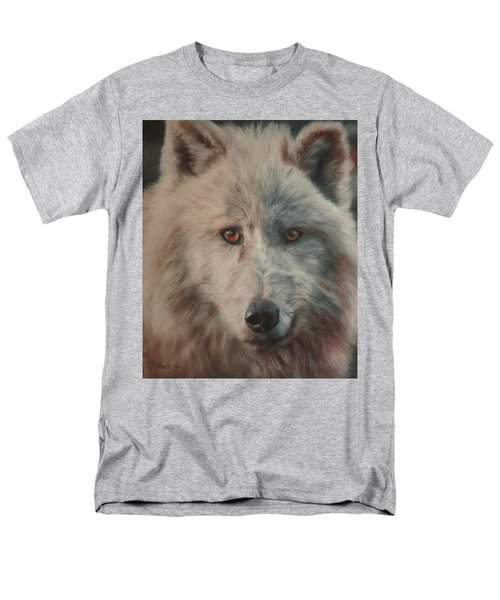 Men's T-Shirt  (Regular Fit) featuring the painting Arctic Wolf by Cherise Foster