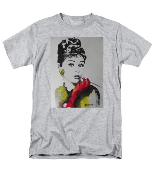 Audrey Hepburn Men's T-Shirt  (Regular Fit) by Chrisann Ellis