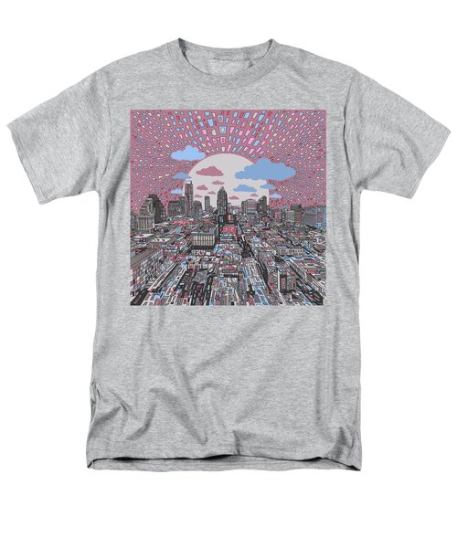 Austin Texas Abstract Panorama 3 Men's T-Shirt  (Regular Fit) by Bekim Art