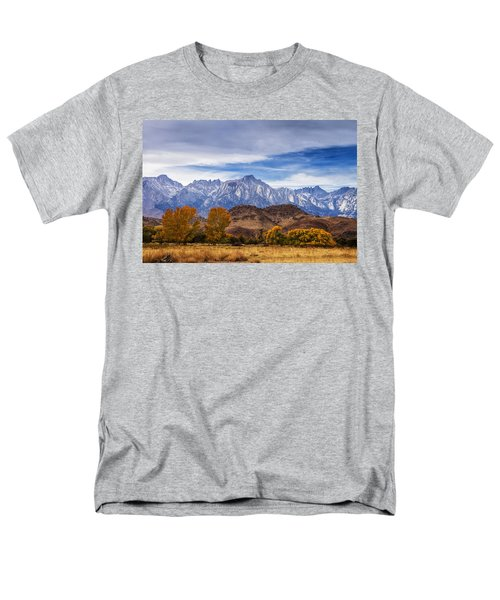 Autumn Colors And Mount Whitney Men's T-Shirt  (Regular Fit) by Andrew Soundarajan