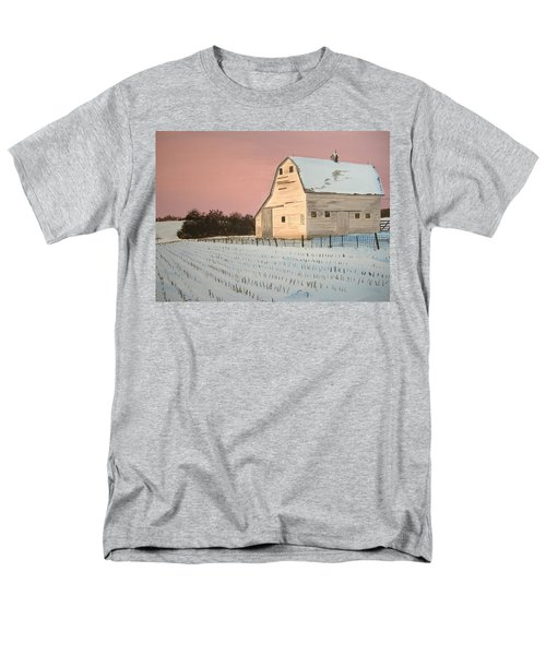 Award-winning Original Acrylic Painting - Nebraska Barn Men's T-Shirt  (Regular Fit) by Norm Starks