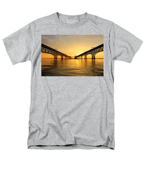Bay Bridge Sunset Men's T-Shirt  (Regular Fit)