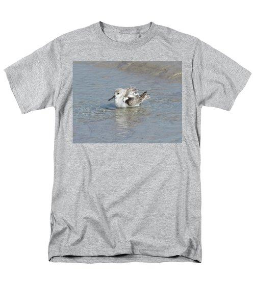 Beach Bird Bath 4 Men's T-Shirt  (Regular Fit) by Ellen Meakin