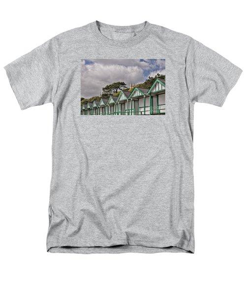 Beach Huts Langland Bay Swansea 3 Men's T-Shirt  (Regular Fit) by Steve Purnell
