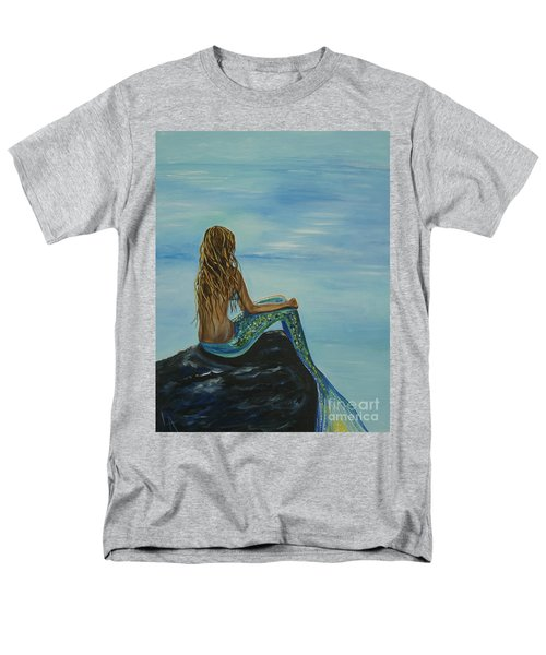 Beautiful Magic Mermaid Men's T-Shirt  (Regular Fit) by Leslie Allen