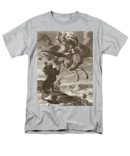 Bellerophon Fights The Chimaera, 1731 Men's T-Shirt  (Regular Fit) by Bernard Picart