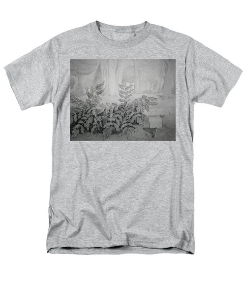 Men's T-Shirt  (Regular Fit) featuring the drawing Bernheim Forest Plant by Stacy C Bottoms