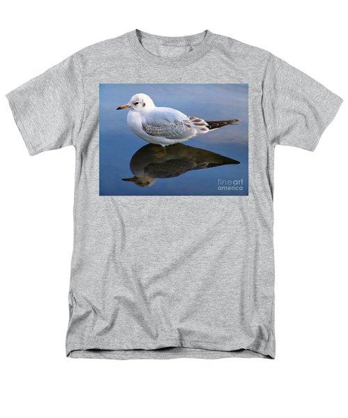 Bird Reflections Men's T-Shirt  (Regular Fit) by John Swartz