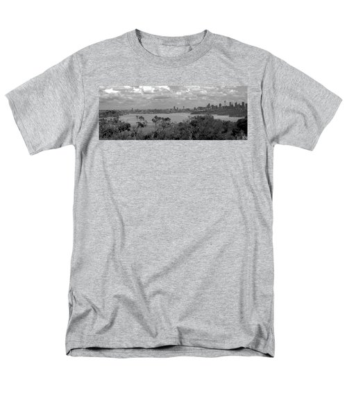 Men's T-Shirt  (Regular Fit) featuring the photograph Black And White Sydney by Miroslava Jurcik