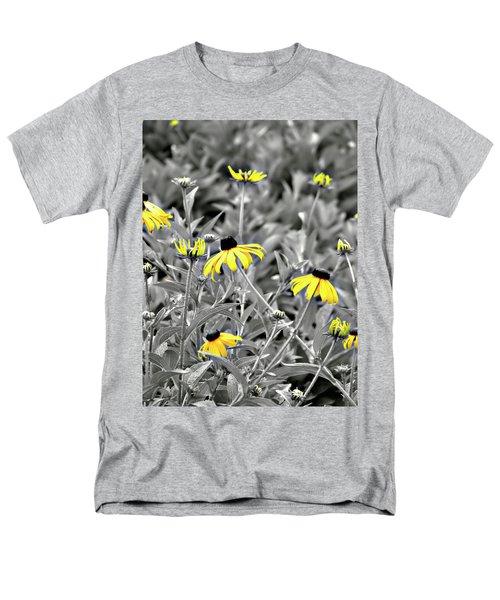 Black-eyed Susan Field Men's T-Shirt  (Regular Fit) by Carolyn Marshall