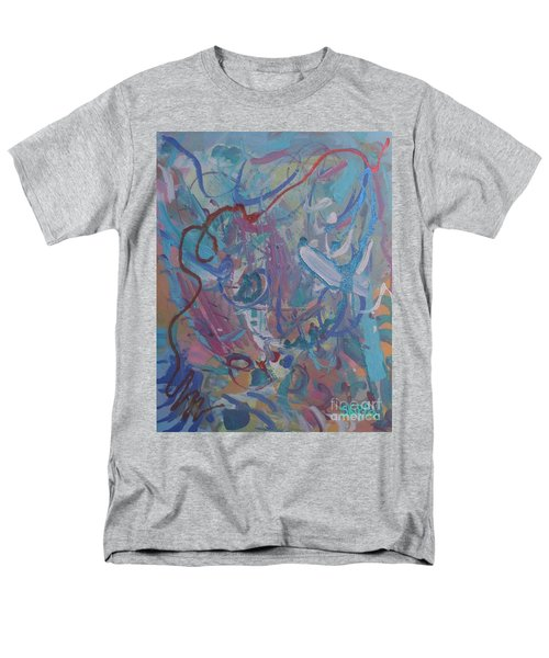Men's T-Shirt  (Regular Fit) featuring the painting Blast by Skipper