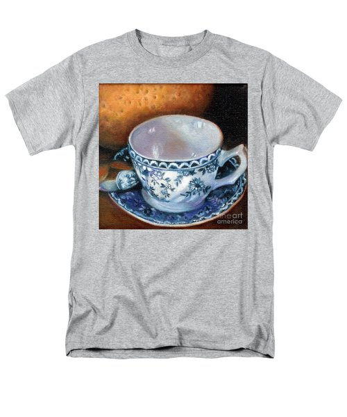 Blue And White Teacup With Spoon Men's T-Shirt  (Regular Fit) by Marlene Book