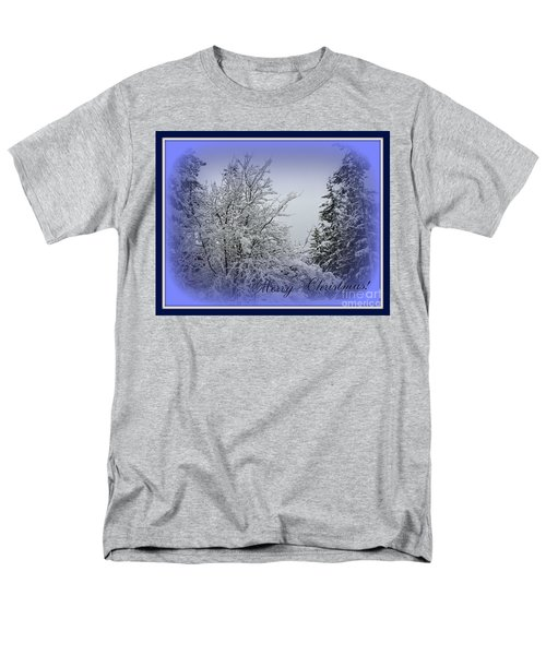 Blue Christmas Men's T-Shirt  (Regular Fit) by Leone Lund