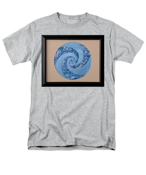 Men's T-Shirt  (Regular Fit) featuring the mixed media Blue Pool by Ron Davidson