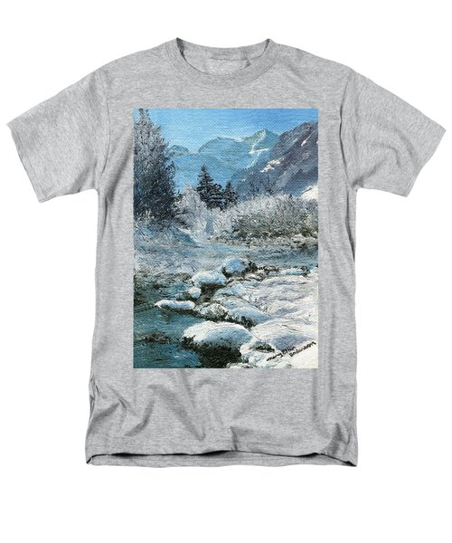 Blue Winter Men's T-Shirt  (Regular Fit) by Mary Ellen Anderson