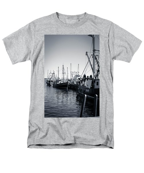 Boats At The Pier  Men's T-Shirt  (Regular Fit) by Brian Caldwell