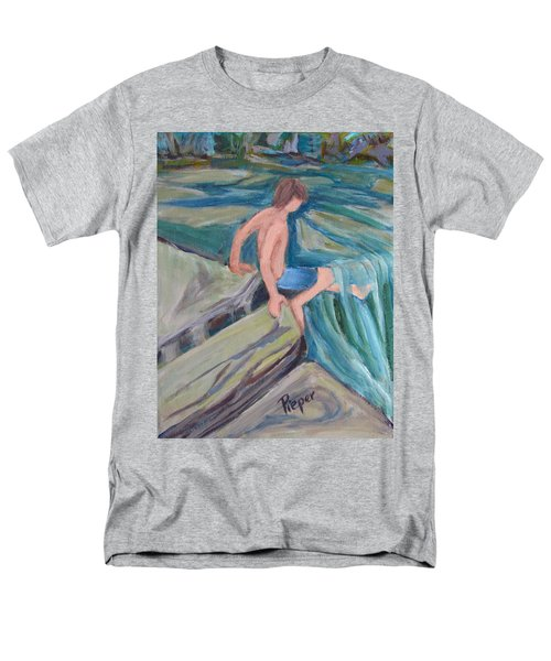 Boy With Foot In Falls Men's T-Shirt  (Regular Fit)