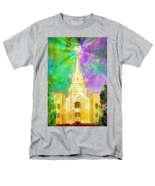 Men's T-Shirt  (Regular Fit) featuring the painting The Heavens Were Opened by Greg Collins
