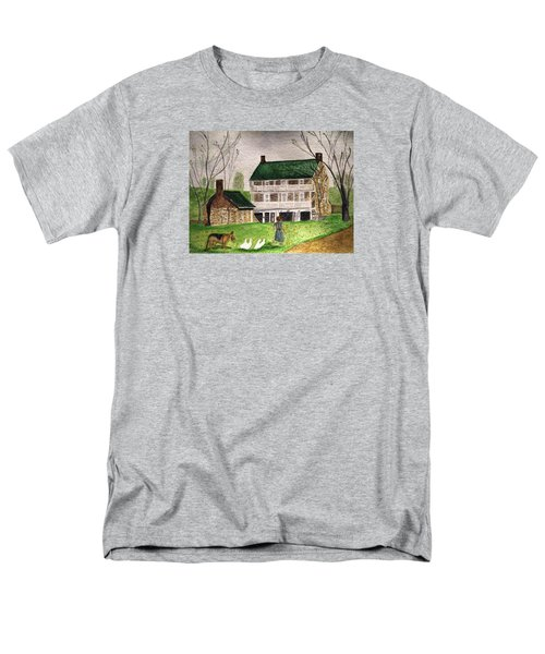 Bringing Home The Ducks Men's T-Shirt  (Regular Fit) by Angela Davies