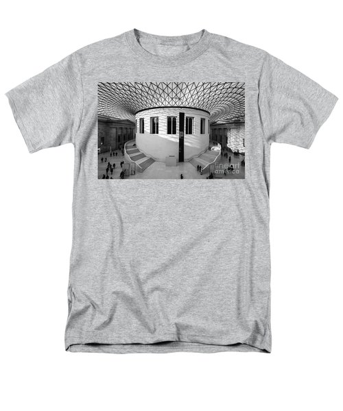 Men's T-Shirt  (Regular Fit) featuring the photograph British Museum Black And White by Matt Malloy