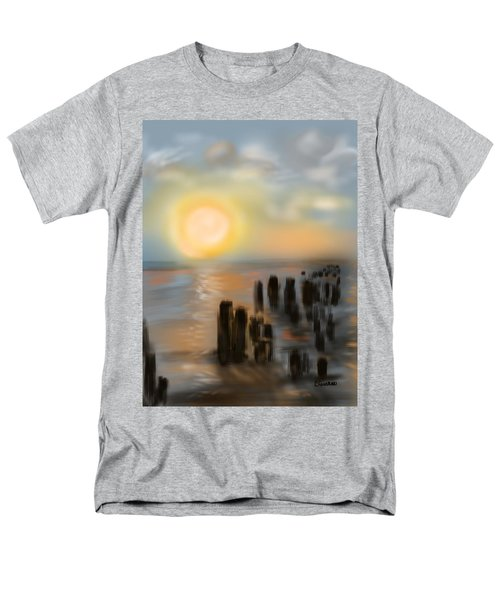 Men's T-Shirt  (Regular Fit) featuring the digital art Broken Dock by Christine Fournier