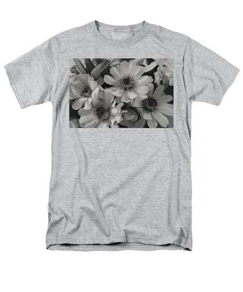 Men's T-Shirt  (Regular Fit) featuring the photograph Brown Eyed Susan Monochrome by Sandra Foster