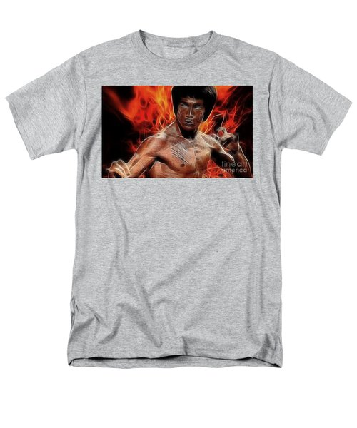 Bruce Lee Men's T-Shirt  (Regular Fit) by Doc Braham
