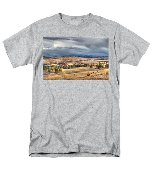 Men's T-Shirt  (Regular Fit) featuring the photograph Buffalo Before The Storm by Bill Gabbert