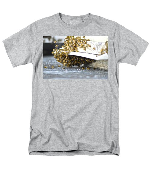 Men's T-Shirt  (Regular Fit) featuring the painting Busy Bees by Laura Forde