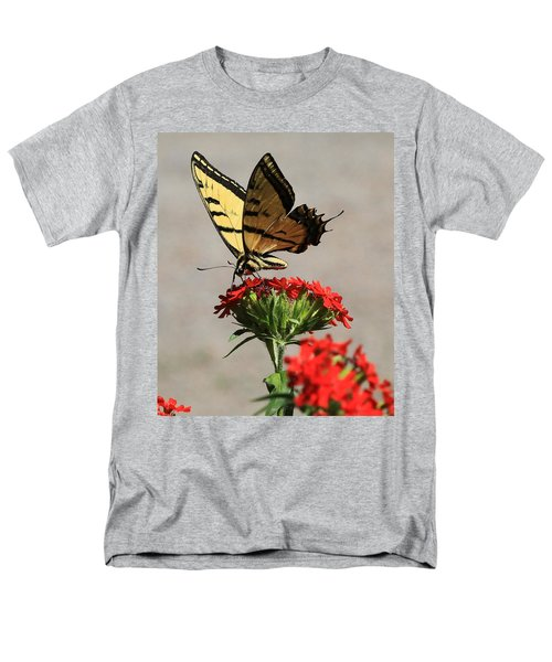 Men's T-Shirt  (Regular Fit) featuring the photograph Butterfly And Maltese Cross 1 by Aaron Aldrich