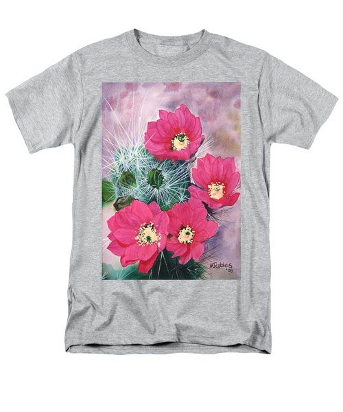 Cactus Flowers I Men's T-Shirt  (Regular Fit) by Mike Robles