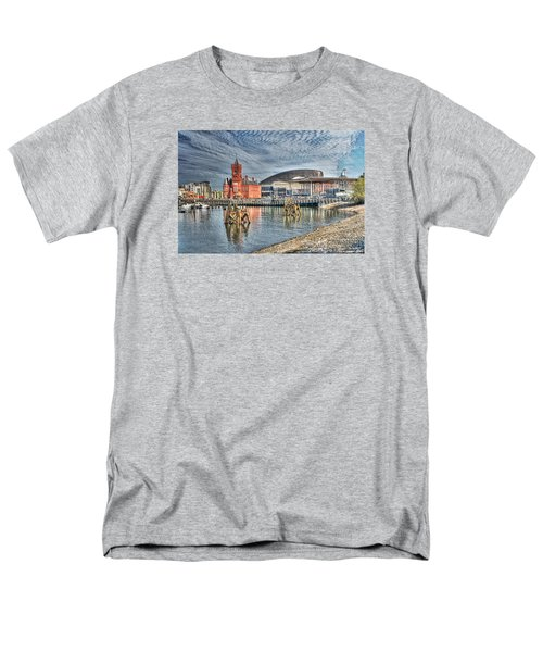 Cardiff Bay Textured Men's T-Shirt  (Regular Fit) by Steve Purnell