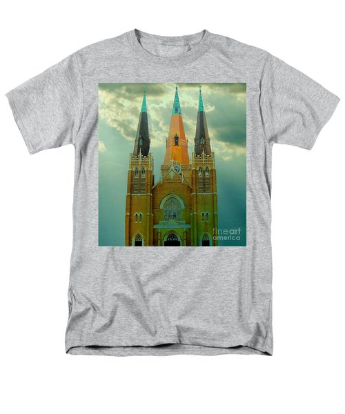 Cathedral Of The Holy Family  Men's T-Shirt  (Regular Fit) by Janette Boyd