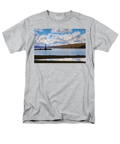 Men's T-Shirt  (Regular Fit) featuring the photograph Cayuga Lake In Colorful Fall Ithaca New York IIi by Paul Ge