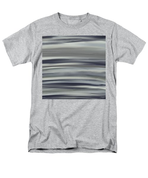 Charcoal And Blue Men's T-Shirt  (Regular Fit) by Lourry Legarde