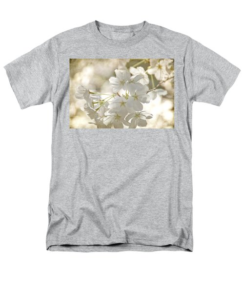 Men's T-Shirt  (Regular Fit) featuring the photograph Cherry Blossoms by Peggy Hughes