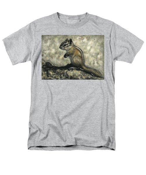 Men's T-Shirt  (Regular Fit) featuring the drawing Chipmunk  by Sandra LaFaut