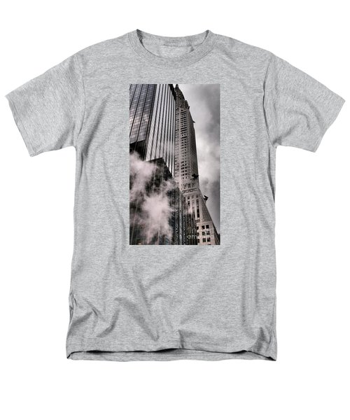 Chrysler Building With Gargoyles And Steam Men's T-Shirt  (Regular Fit) by Miriam Danar