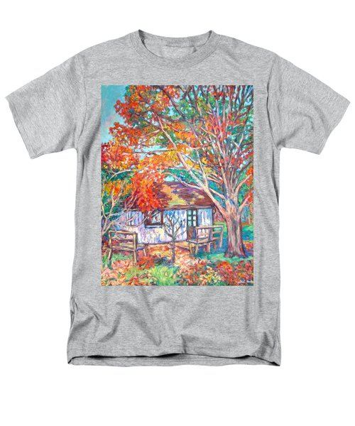 Claytor Lake Cabin In Fall Men's T-Shirt  (Regular Fit) by Kendall Kessler